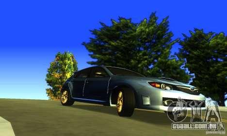 Subaru Impresa WRX STI 2008 para GTA San Andreas vista direita