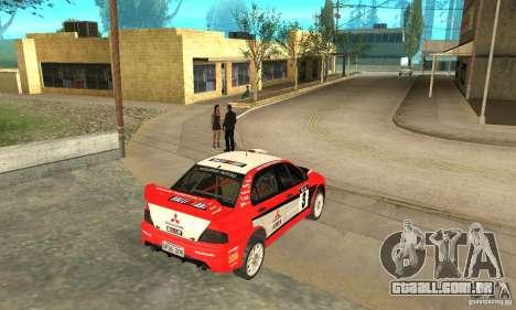 Mitsubishi Lancer Evolution IX para GTA San Andreas interior