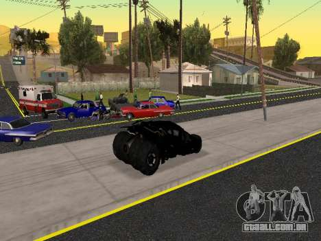 Tumbler Batmobile 2.0 para GTA San Andreas vista superior