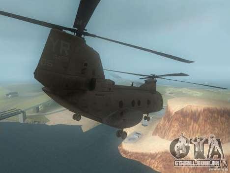 CH46 para GTA San Andreas vista direita