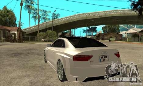 Audi S5 Quattro Tuning para GTA San Andreas traseira esquerda vista