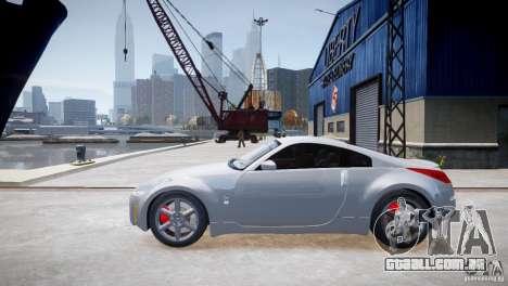 Nissan Fairlady 350Z para GTA 4 esquerda vista