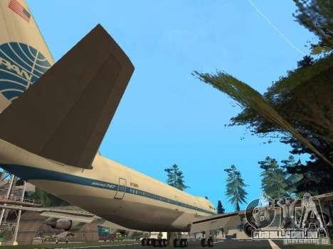 Boeing 747-100 Pan American Airways para GTA San Andreas vista direita
