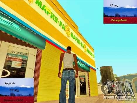 Russas lojas atrás da casa de CJ para GTA San Andreas terceira tela
