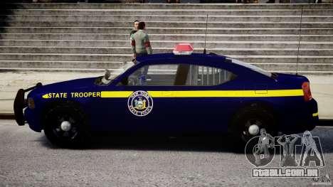 Dodge Charger NY State Trooper CHGR-V2.1M [ELS] para GTA 4 traseira esquerda vista