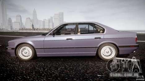 BMW 5 Series E34 540i 1994 v3.0 para GTA 4 esquerda vista