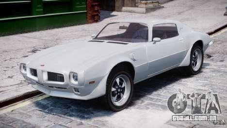 Pontiac Firebird Esprit 1971 para GTA 4 esquerda vista