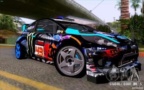 Ford Fiesta 2013 v2.0 para GTA San Andreas vista traseira