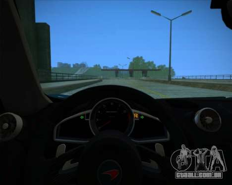McLaren MP4-12C 2012 para GTA San Andreas vista interior