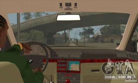 BMW E38 750IL para GTA San Andreas vista interior