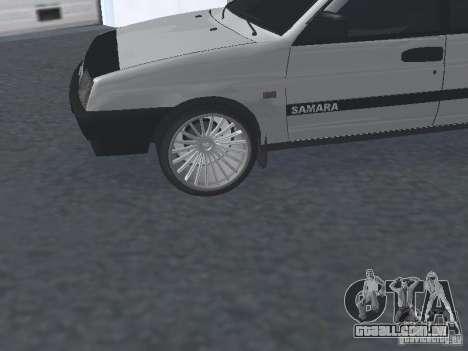VAZ 2109 ajustáveis para GTA San Andreas vista direita