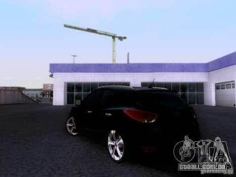 Hyundai ix35 para GTA San Andreas traseira esquerda vista