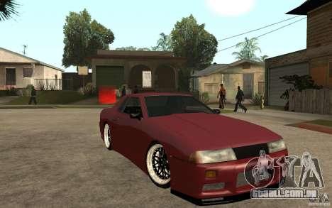 Elegy Modified para GTA San Andreas vista traseira