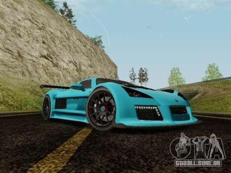 Gumpert Apollo S 2012 para GTA San Andreas vista direita