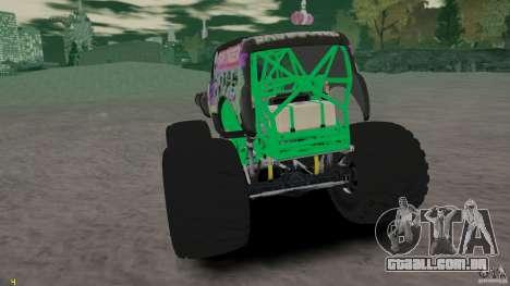 Grave digger para GTA 4 vista direita