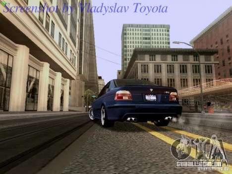 BMW E39 M5 2004 para GTA San Andreas vista traseira