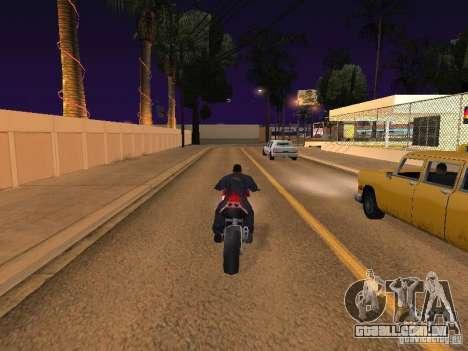 Salto de moto no meu carro para GTA San Andreas