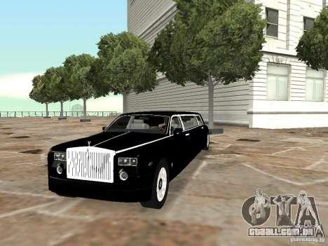 Motorista de limusine de Rolls-Royce Phantom 200 para GTA San Andreas