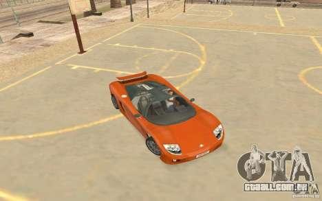 Veloche carro para GTA San Andreas traseira esquerda vista