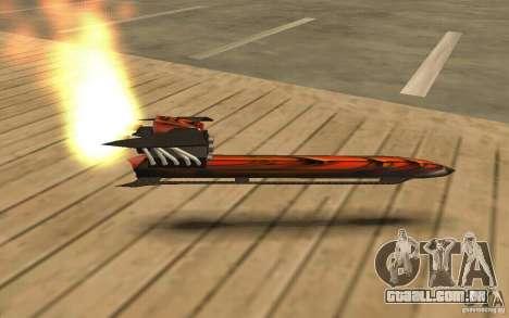 Hoverboard para GTA San Andreas esquerda vista