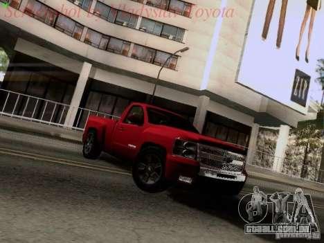 Chevrolet Cheyenne Single Cab para GTA San Andreas esquerda vista