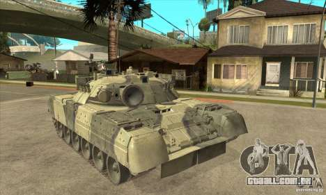 T-80U MBT para GTA San Andreas vista traseira