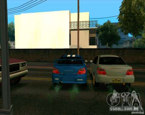 Subaru Impreza WRX STi Tunable para GTA San Andreas vista traseira
