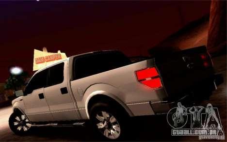Ford Lobo 2012 para GTA San Andreas vista interior