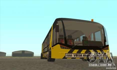 Ônibus para o aeroporto para GTA San Andreas vista traseira