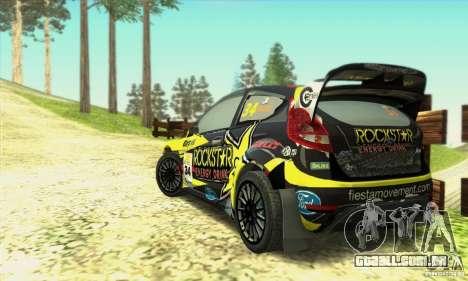 Ford Fiesta Rockstar Energy para GTA San Andreas esquerda vista