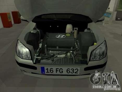 Hyundai Getz para GTA San Andreas vista interior