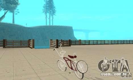 Low Rider Bike para GTA San Andreas traseira esquerda vista
