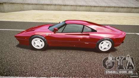 Ferrari 288 GTO para GTA 4 vista interior