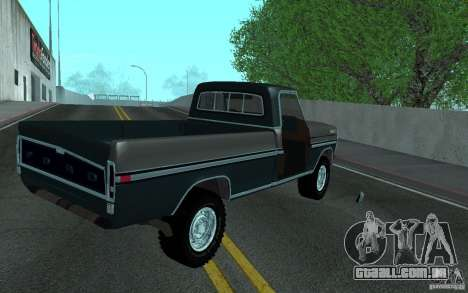 Ford F150 Ute 1976 para vista lateral GTA San Andreas