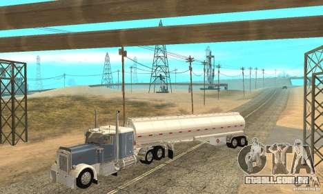 Peterbilt 379 Custom And Tanker Trailer para GTA San Andreas interior