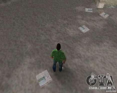 Água nova, jornais, folhas, lua para GTA Vice City oitavo tela