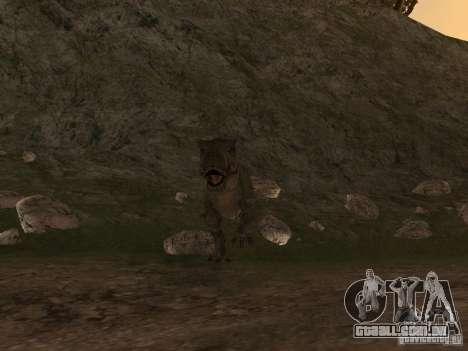 Dinosaurs Attack mod para GTA San Andreas segunda tela
