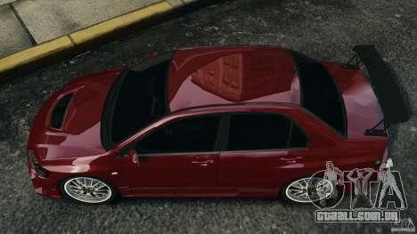 Mitsubishi Lancer Evolution 8 para GTA 4 vista direita