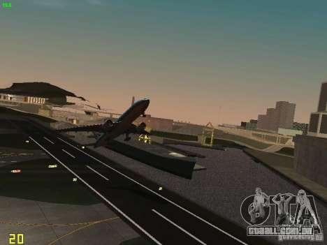 Boeing 777-200 KLM Royal Dutch Airlines para GTA San Andreas vista traseira