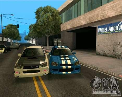 Subaru Impreza WRX STi Tunable para GTA San Andreas esquerda vista