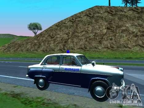 Moskvitch 403 com polícia para GTA San Andreas vista superior