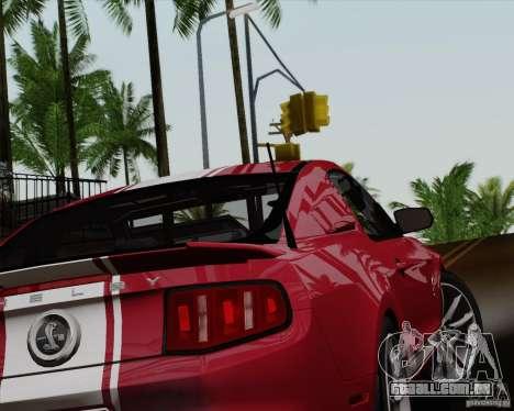 Ford Shelby GT500 Super Snake 2011 para GTA San Andreas esquerda vista
