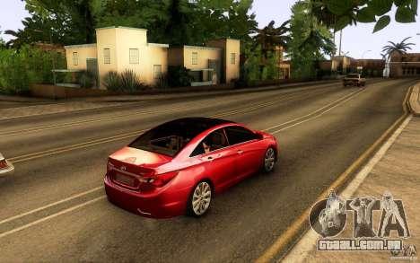 Hyundai Sonata 2011 para GTA San Andreas vista interior