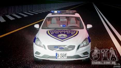 Volvo S60 Macedonian Police [ELS] para GTA 4 vista inferior