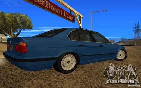 BMW 525 E34 V.3 para GTA San Andreas esquerda vista