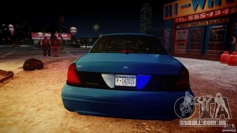 Ford Crown Victoria Detective v4.7 [ELS] para GTA 4 vista inferior