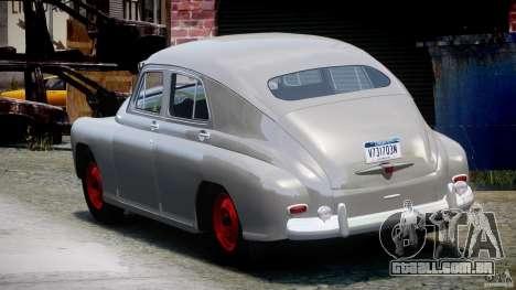 GÁS M20V ganhar americano 1955 v 1.0 para GTA 4 traseira esquerda vista