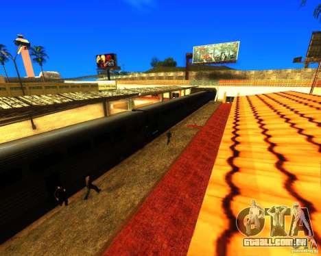 Uma movimentada estação de trem em Los Santos para GTA San Andreas segunda tela