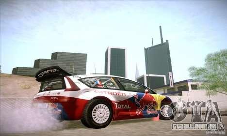 Citroen C4 WRC para GTA San Andreas vista traseira