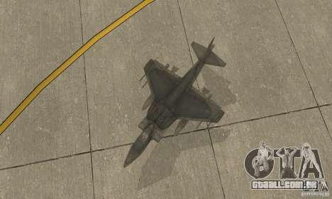AV-8 Harrier para GTA San Andreas vista direita